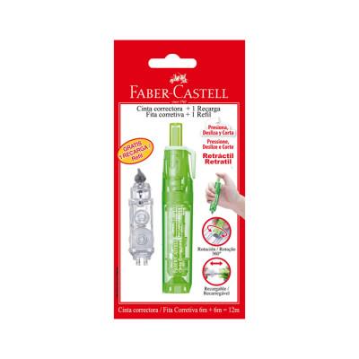 Cinta Correctora + Recarga Faber Castell
