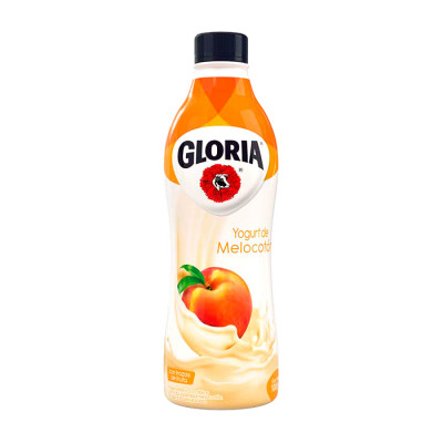 Yogurt Gloria Melocotón Botella X 1000 Grs