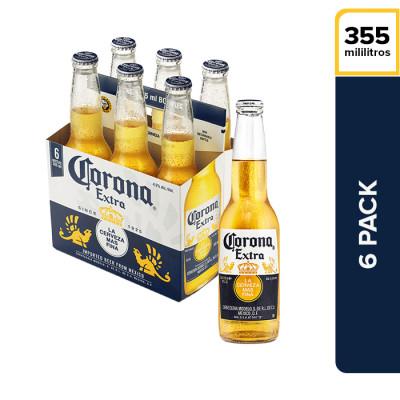 Cerveza Corona Botella X 6 Unds X 355 Ml