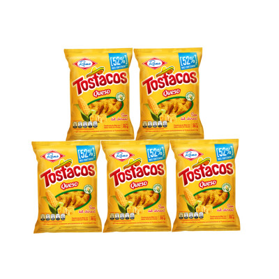 Pasabocas Tostacos Queso 10 Unds X 38 Grs
