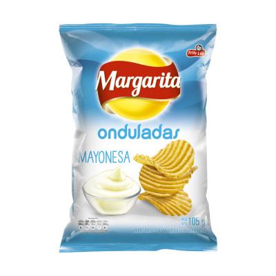 Papas Margarita Mayonesa Ondulada 105 Grs