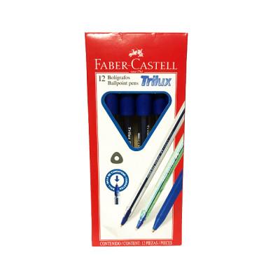 Boligrafo Faber Castell Trilux 032 Azul X 12 Unds