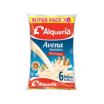 Avena Alqueria Autentica 200 Ml Bolsa X 6 Unds