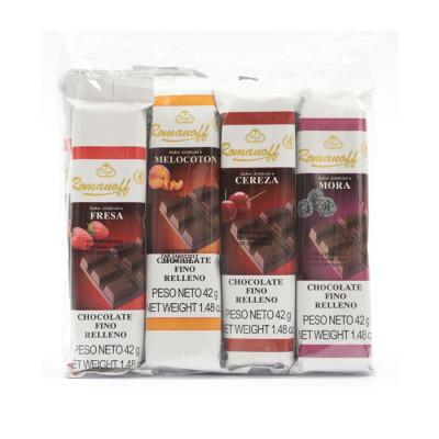 Chocolatinas Rellenas Romanoff X 12 Unds