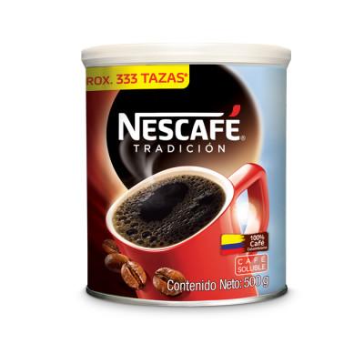 Café Instantáneo Nescafé Tradición Lata X 500 Grs