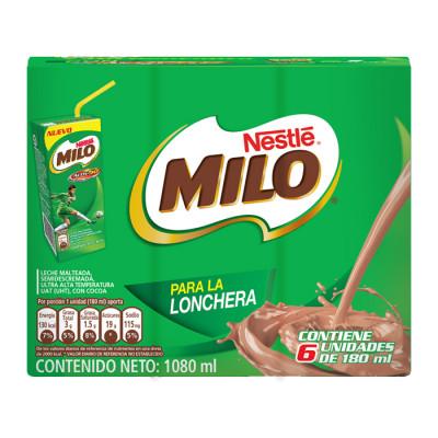 Bebida Achocolatada Milo Nestle Tetra 180 Ml X 6 Unds