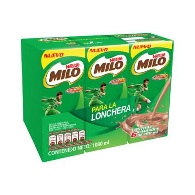Bebida Achocolatada Milo Liquido Tetra 180 Ml X 6 Unds