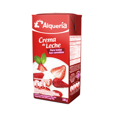 Crema De Leche Alqueria Tetra X 180 Grs