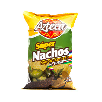 Nachos Azteca Jalapeños X 180 Grs
