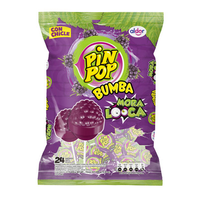 Chupeta Pin Pop Bumba Mora Loca X 24 Unds