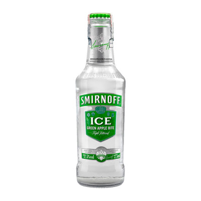 Coctel Smirnoff Ice Green Apple Botella 24 Unds X 250 Ml