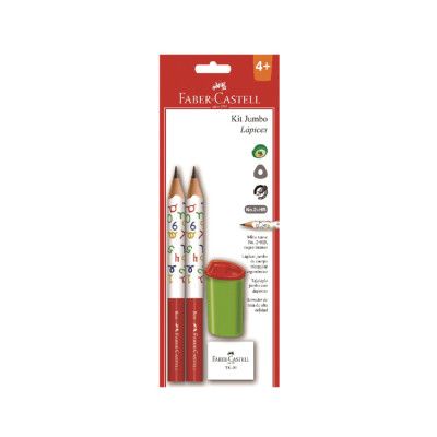 Kit  Jumbo Lapices Faber Castell X 2 Unds