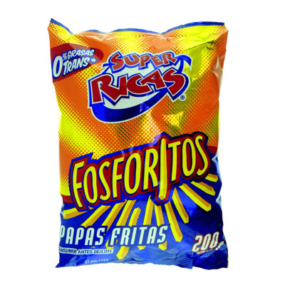 Papas Fosforito Super Ricas X 200 Grs