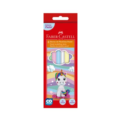 Plastilina Larga Faber Castell Pastel X 8unds