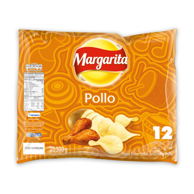 Papas Margarita Pollo X 12 Unids X 25 Grs