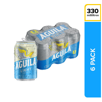 Cerveza Aguila Light Lata 330 Ml X 6 Unds