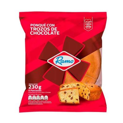 Ponque Ramo Trozos Chocolate *230 Grs