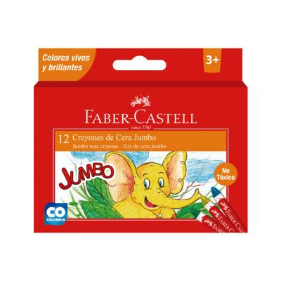 Creyones De Cera Faber Castell Jumbo X 12 Unds