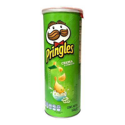 Papas Pringles Crema Y Cebolla X 137 Grs