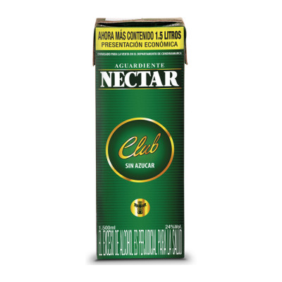 Aguardiente Nectar Club X 1500 Ml