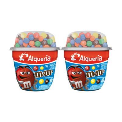 Yogurt Cuchareable Alqueria M&m 100 Grs X 4 Unds