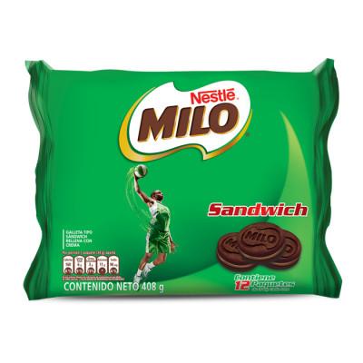Galletas Milo Sandwich 4 Unds X 12 Paquetes