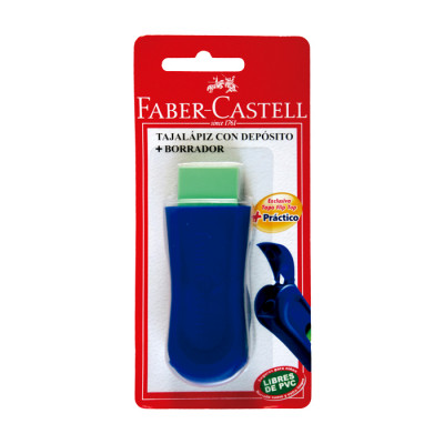Mix  Faber Castell Tajalapiz Con Deposito + Borrador