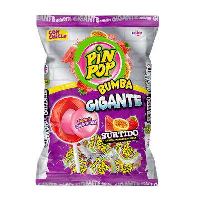 Chupeta Pin Pop Bumba Gigate Surtido X 24 Unds