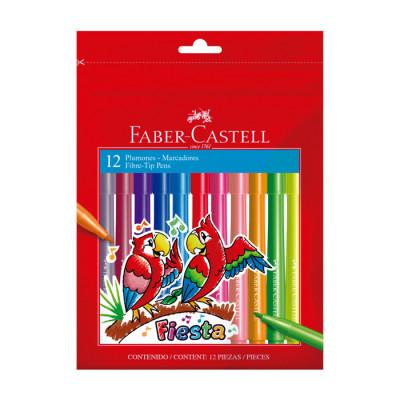 Plumon Faber Castell  Fiesta X 12 Unds