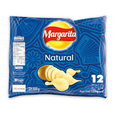 Papas Margarita Natural X 12 Unidades X 25grs