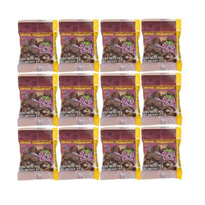 Uvas Con Chocolate Cheveres X24 Unds 20 Grs