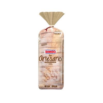 Pan Artesano Blanco Bimbo Bolsa X 500 Grs