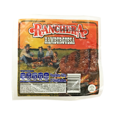 Hamburguesa Ranchera X 2 Unds 130 Grs