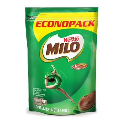 Chocolate En Polvo Milo Nestle Bolsa Zipper X 1100 Grs