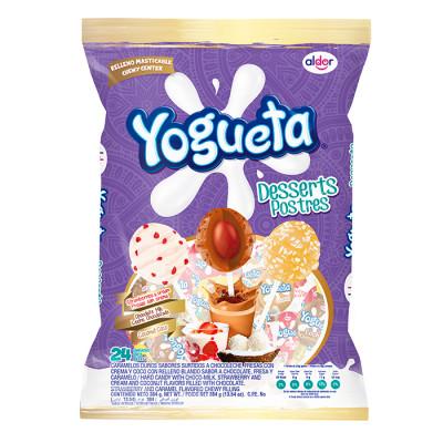 Chupeta Yogueta Desserts X 24 Unds