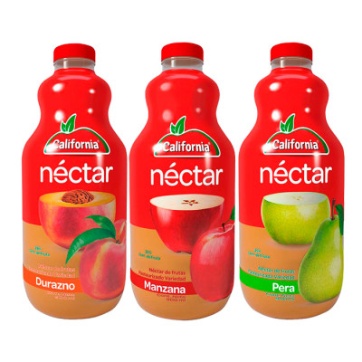 Néctar California Botella 3 X 900 Ml Surtido