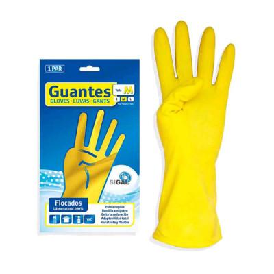 Guantes Sigal Domestico Amarillo 1 Par T-m