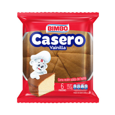 Ponque Casero Bimbo Vainilla X 220 Grs