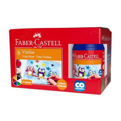 Vinilos Faber Castell Colores X 6 Unds
