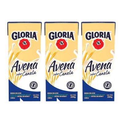Avena Uht Gloria Canela Tetrabrick 200g X 6 Unds