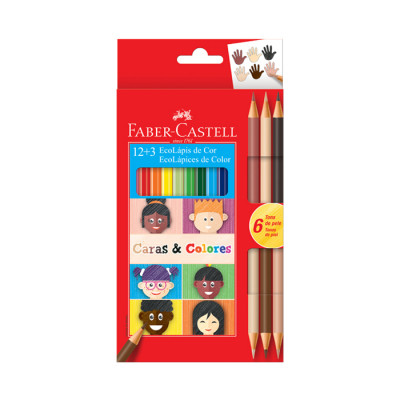 Color Faber Castell Triangular Caras Y Colores X 12 Unds