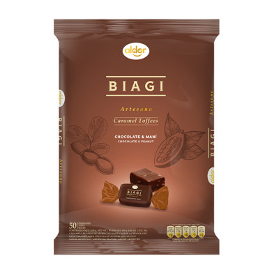 Caramelo Blando Biagi Artesano Chocolate&mani X 50 Unds