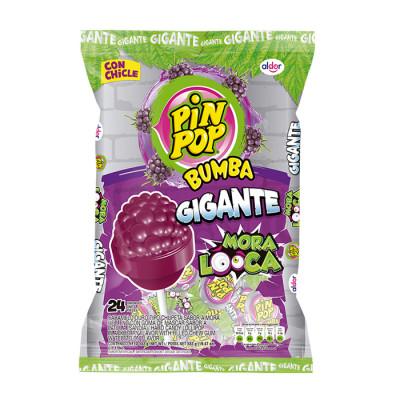Chupeta Pin Pop Gigante Mora Locca  X 24 Unds