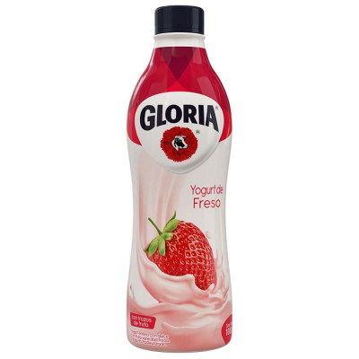 Yogurt Gloria Fresa Botella X 1000 Grs