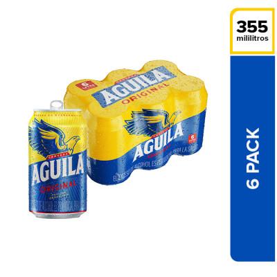 Cerveza Aguila Lata 355 Ml X 6 Unds