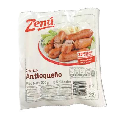 Chorizo Antioqueño Zenú X 500 Grs