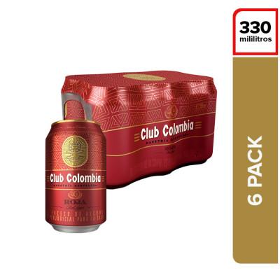 Cerveza Club Colombia Roja Lata X 6 Unds X 355 Ml