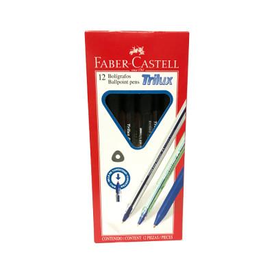 Boligrafo Faber Castelltrilux 032 Negro X 12 Unds