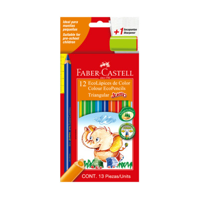 Color Jumbo  Faber Castell Triangular X 12 Unds