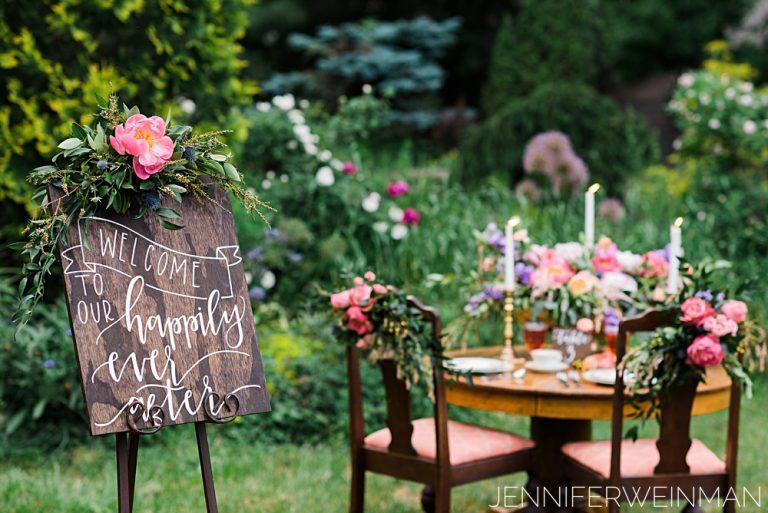 heirloom garden styled shoot